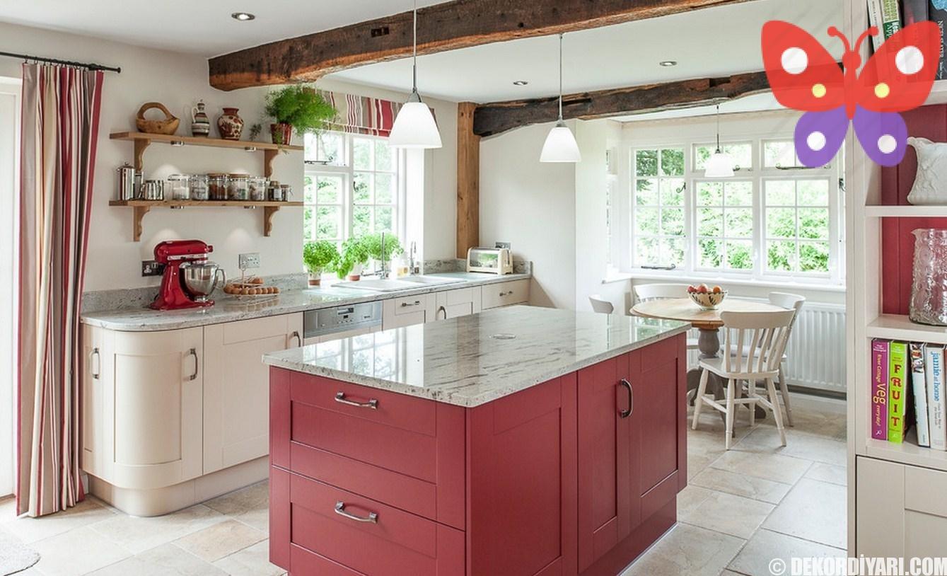 4En-İyi-Köşeli-Mutfak-Dolabı-Örnekleri-2016-Kırmızı-Beyaz-Mutfak-Dolapları