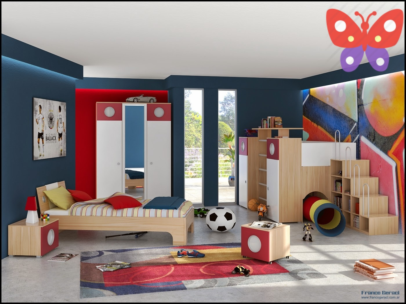 2Twin-Kids-Bedroom-Decorating-Ideas-for-Boys-Interior-Furniture-